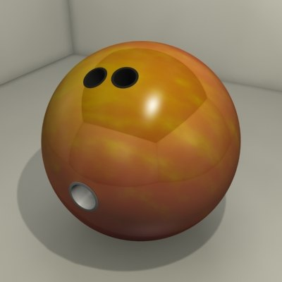 realistic professional bowling ball 3d model