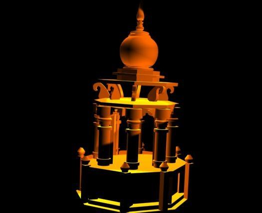 mughal pillars 3d model