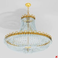 3d max chandelier light lamp