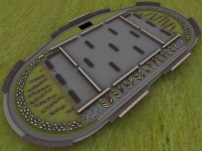 3d model 1 5 mile speedway