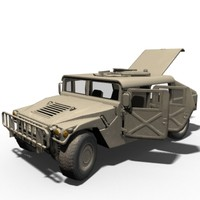 low-poly hmmwv normal mapping 3d model