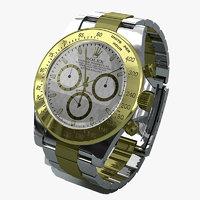 3d rolex daytona replica watch model