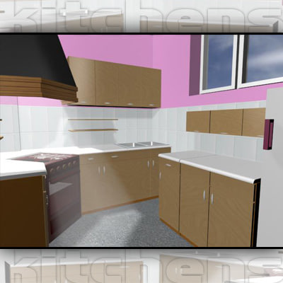 3d max kitchen real