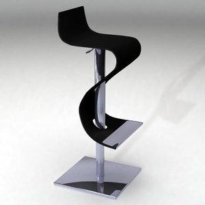 madras stool 3d model