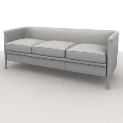3ds max sofa club 3