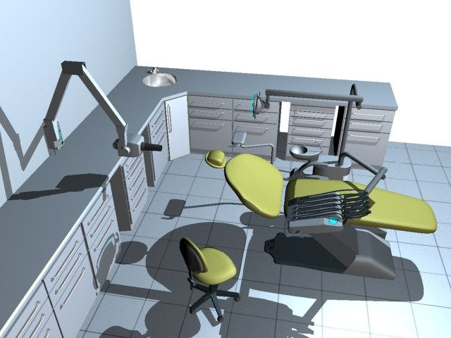 3d complete dental clinic model
