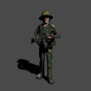 3d model soldier character