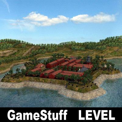 military fort level 3d model