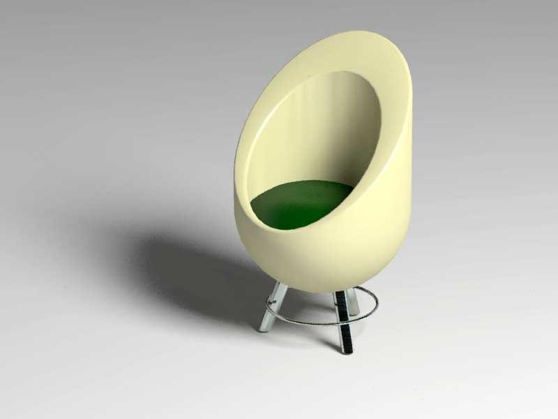 3d model sofa stool
