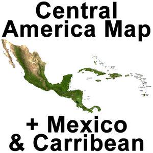 central america topographic 3d max