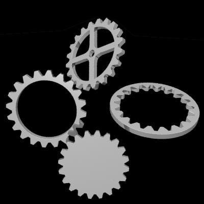 3d cogs gear model