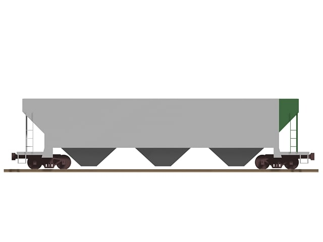 3d railroad hopper freight car