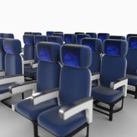 coach class seats 3d max