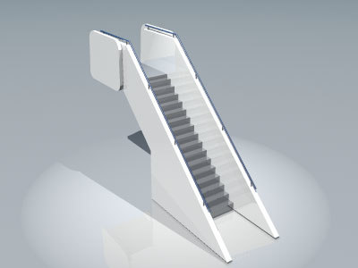 3d airport stair