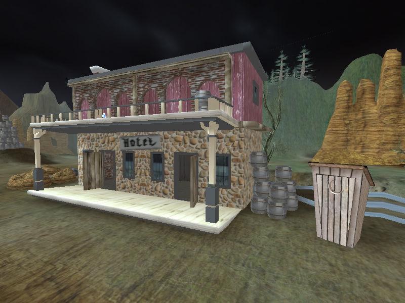 western hotel 3d model