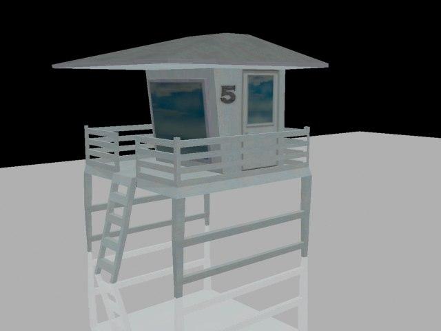 lifeguard tower 3d model