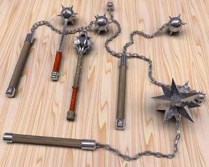 free medievil weapons 3d model