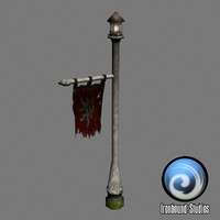 Flagpost Lamp