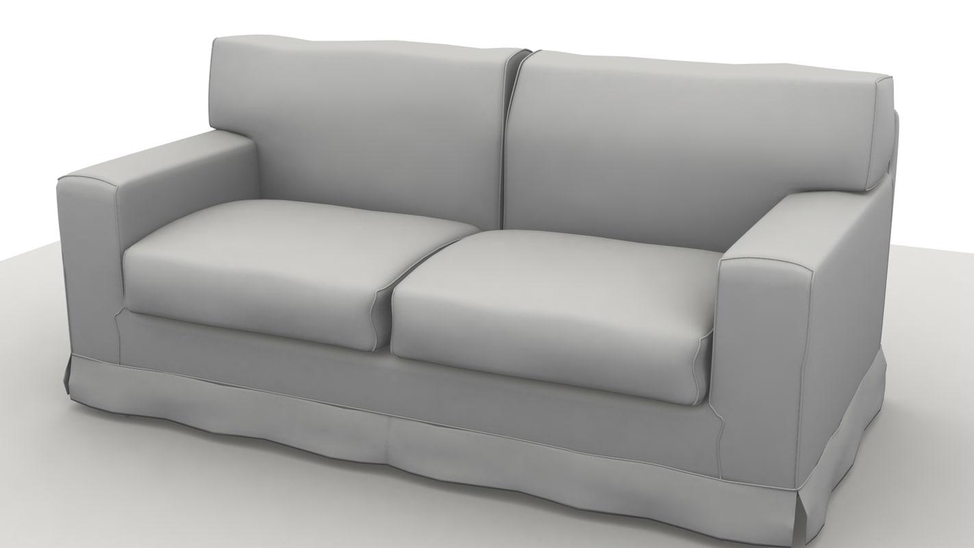 3ds max sofa america 2 pillow