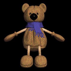 3d teddy bear teddybear model