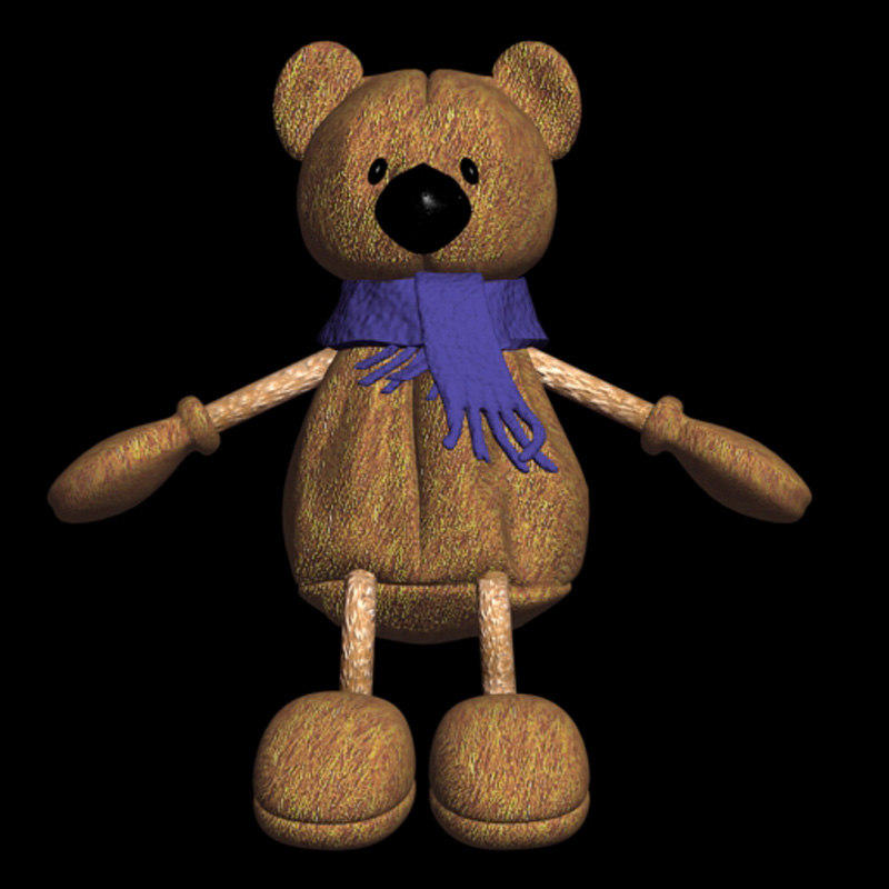 3d teddy bear teddybear model