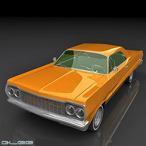 3d model chevy impala 64