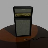 3d model marshall amp