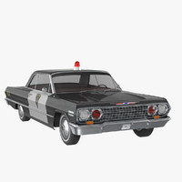 3d chevy impala 64 police car