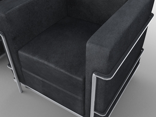 lc2 lounge seating 3d model