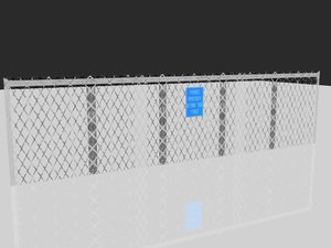 3d model fence trespassing