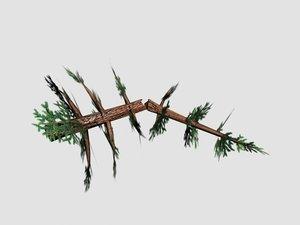 3dsmax broken pine tree