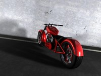 Custom Chopper Motorcycle II