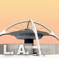 3d model theme building los angeles