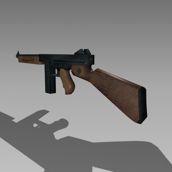 52b45998e87a thompson submachine gun 3d model