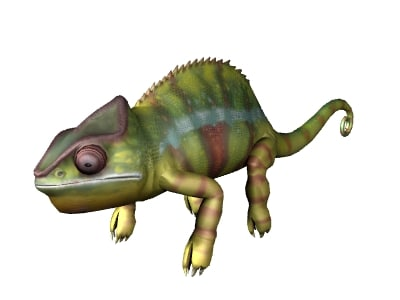 chameleon uv resolution 3d model
