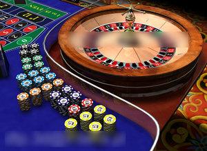 3d roulette table model