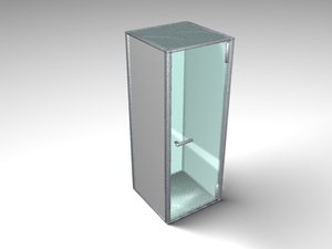 3d telephone booth model