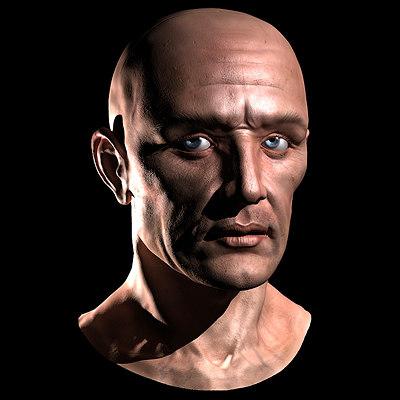 realistic head 3d model