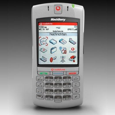 free vodafone blackberry 7100v 3d model