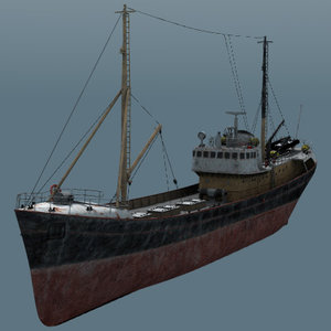 resolution fishing boat obj