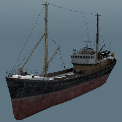 resolution fishing boat obj