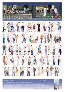 silhouettes - figure profiles 3d model