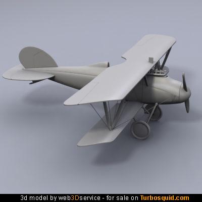 3d obj biplane albatros