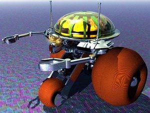 3d model cybernetic robot