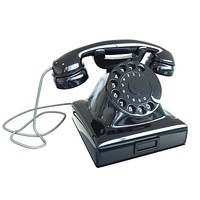 realistic old fashion phone 3d x