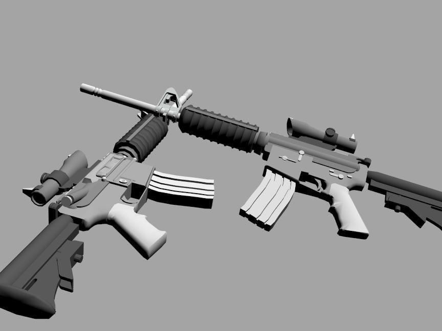 m4a3 gun 3ds