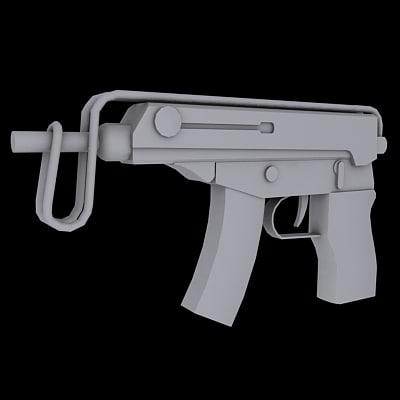 free scorpion smg 3d model