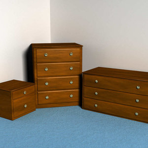 bedroom dresser drawers 3d max