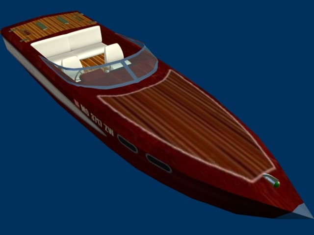 boat antique motors 3d model