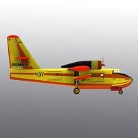 3d canadair cl-215 plane canada